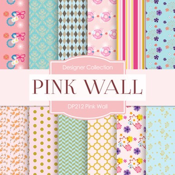 Digital Papers -  Pink Chrysanthemum (DP212)