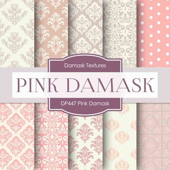 Digital Papers - Pink Damask (DP447)