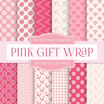 Digital Papers - Pink Gift Wrap (DP2108)