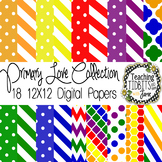 Digital Papers - Primary Colors Collection {Personal or Co
