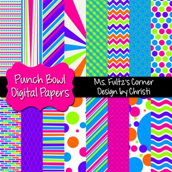 Digital Papers: Punch Bowl Colors