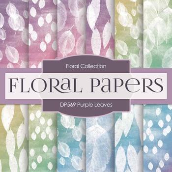 Digital Papers - Purple Leaves (DP569)