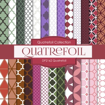 Digital Papers - Quatrefoil (DP2162)