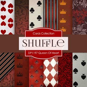 Digital Papers - Queen of Heart (DP1197)