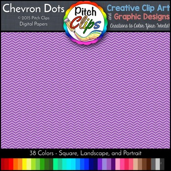 Digital Papers: RAINBOW BRIGHTS - Chevron Dots -  38 Color