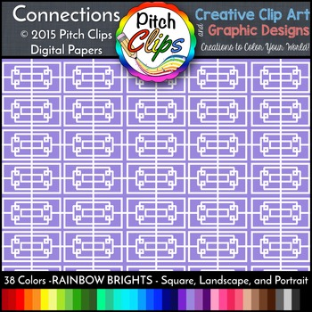 Digital Papers: RAINBOW BRIGHTS - Connections - 38 Colors