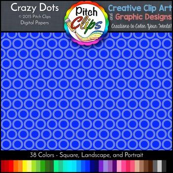 Digital Papers: RAINBOW BRIGHTS - Crazy Dots - 38 Colors,
