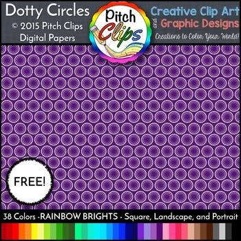 Digital Papers: RAINBOW BRIGHTS - Dotty Circles {FREEBIE}