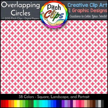 Digital Papers: RAINBOW BRIGHTS - Overlapping Circles - 38