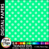 Digital Papers: RAINBOW BRIGHTS - Textured Dots - 38 Color