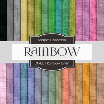 Digital Papers - Rainbow Linen (DP4851)