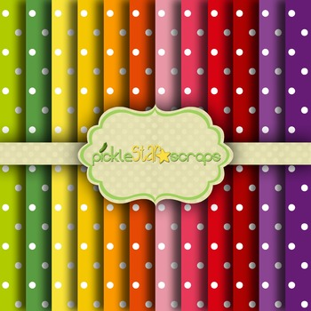 Digital Papers Rainbow Patterns