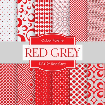 Digital Papers - Red Grey (DP4196)