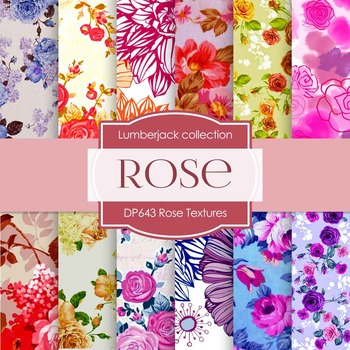 Digital Papers - Rose Textures (DP643)