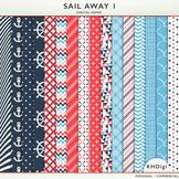 "Digital Papers - ""Sail Away 1"" Nautical Themed"