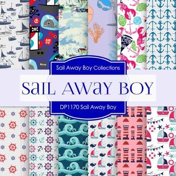 Digital Papers - Sail Away Boy (DP1170)