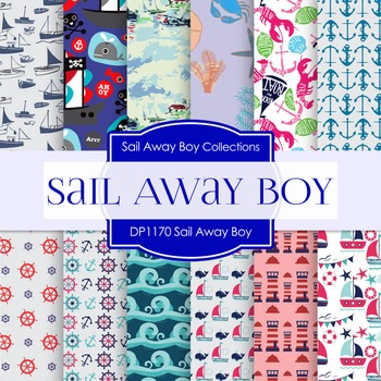 Digital Papers - Sail Away Boy (DP1170)