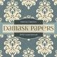 Digital Papers - Sepia Damask (DP521)