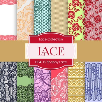 Digital Papers - Shabby Lace (DP4112)