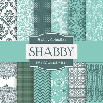 Digital Papers - Shabby Teal (DP4132)