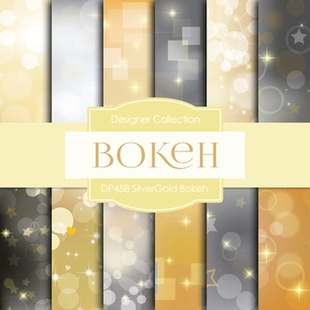 Digital Papers - Silver Gold Bokeh (DP458)