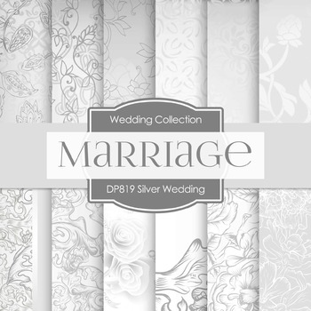 Digital Papers - Silver Wedding  (DP819)