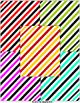Digital Papers - Slanted / Diagonal Light Colored Stripes