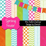 Digital Papers: Spring Fever {with bonus bunting}