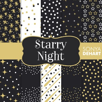 Digital Papers - Starry Night