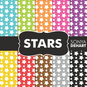 Digital Papers - Stars Pattern