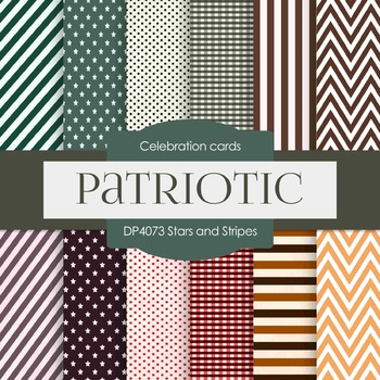 Digital Papers -  Stars and Stripes (DP4073)
