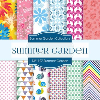 Digital Papers - Summer Garden (DP1127)