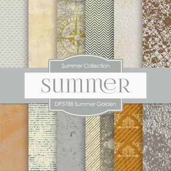 Digital Papers - Summer Golden (DP3788)