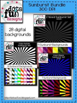 Digital Papers: Sunburst Bundle