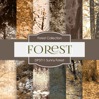 Digital Papers - Sunny Forest (DP3711)