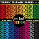 Digital Papers  {Terrific Triangles BUNDLE}