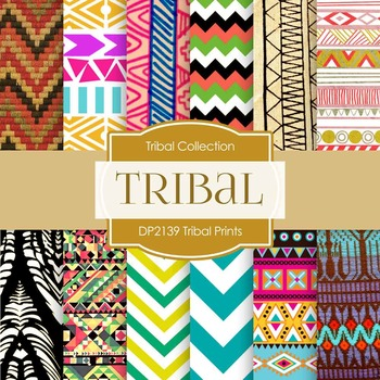 Digital Papers - Tribal Prints (DP2139)