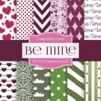 Digital Papers - Valentine Hearts (DP1714)