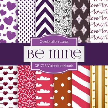 Digital Papers - Valentine Hearts (DP1715)