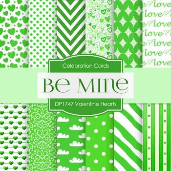 Digital Papers - Valentine Hearts (DP1747)
