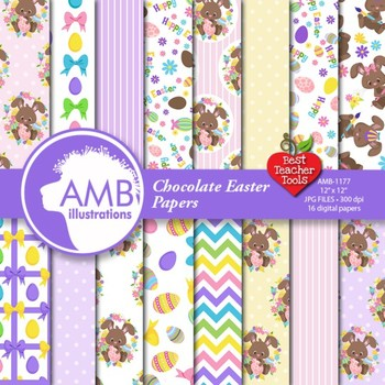 Digital Papers Easter Bunny Digital Papers and backgrounds