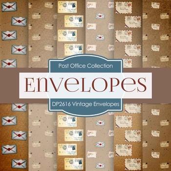 Digital Papers - Vintage Envelopes (DP2616)