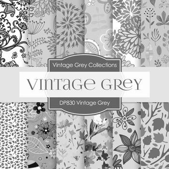 Digital Papers - Vintage Gray (DP830)
