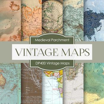 Digital Papers - Vintage Maps (DP400)