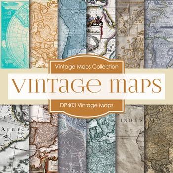 Digital Papers - Vintage Maps (DP404)