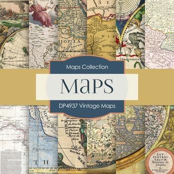 Digital Papers - Vintage Maps (DP4937)