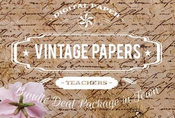 Digital Papers - Vintage Patterns Bundle Deal