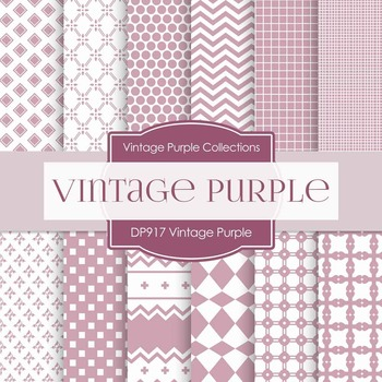 Digital Papers - Vintage Purple (DP917)