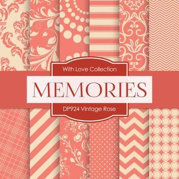 Digital Papers - Vintage Rose (DP924)