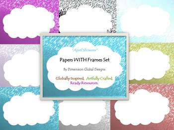 Papers WITH Frames Set : April Showers